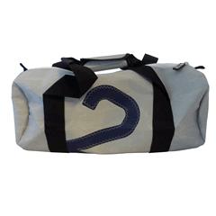 The Loft Sailcloth Barrel Bag Small Grey