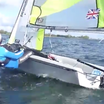 RS Feva Rig setup, Upwind Speed